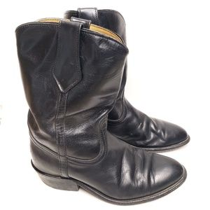 Frye | Black leather Billie pull on boots
